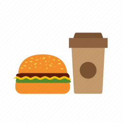 food fast icon restaurant menu lunch drink town colorful icons editor open flat