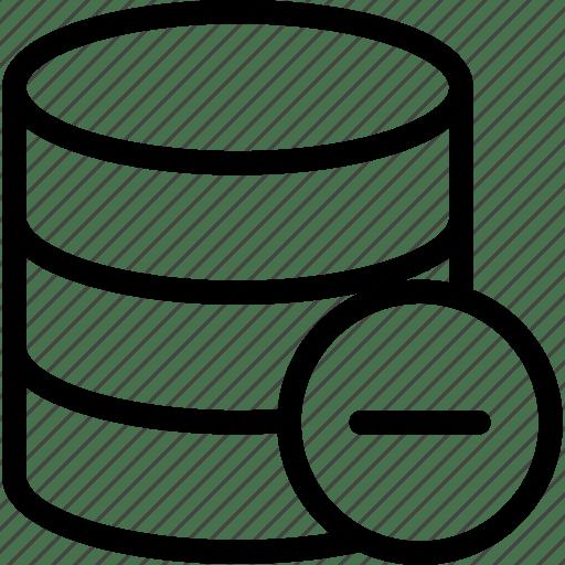 Database, delete, remove, sql icon