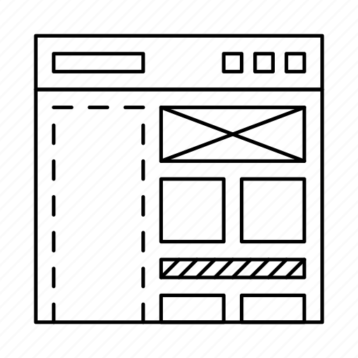 Design, layout, page, site, structure, web, wireframe icon