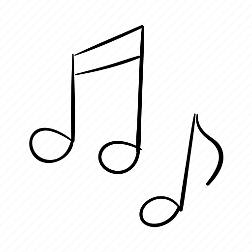 Dancing, handdrawn, music, music notes, singing, sound icon