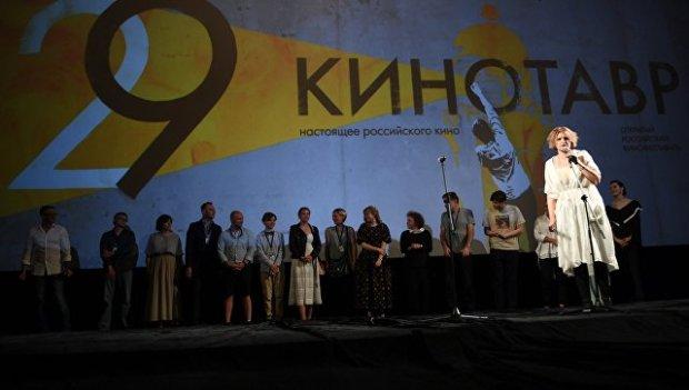 Режиссер Авдотья Смирнова на премьере своего фильма История одного назначения на фестивале Кинотавр в Сочи