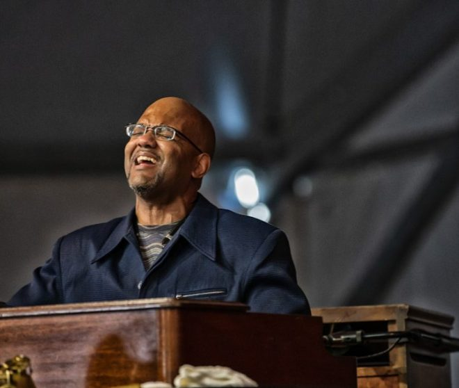 Gerald Gibbs at the 2019 New Orleans Jazz & Heritage Festival