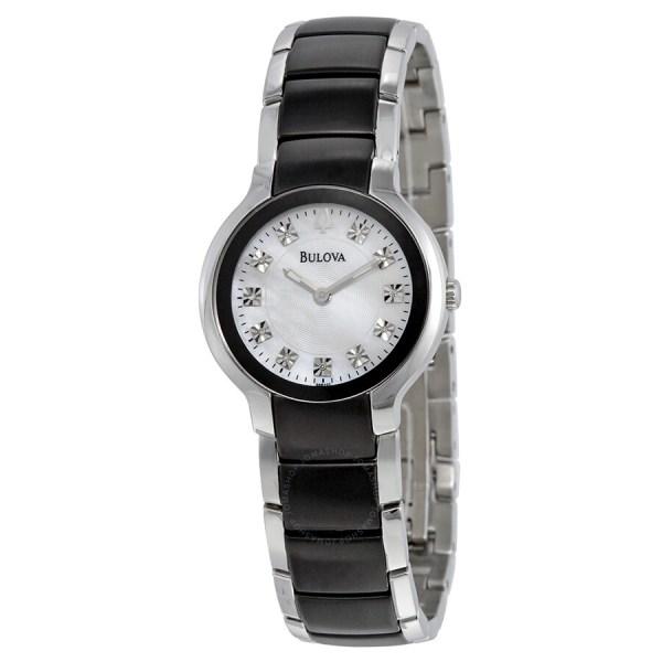 Bulova Diamond Casual Ladies Watch 98p127