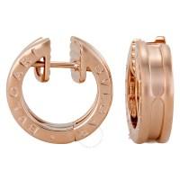 Bvlgari B-Zero1 18kt Rose Gold Ladies Earrings 345506 ...