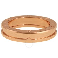 Bvlgari B.Zero1 18k Rose Gold 1-Band Ring AN852422 ...