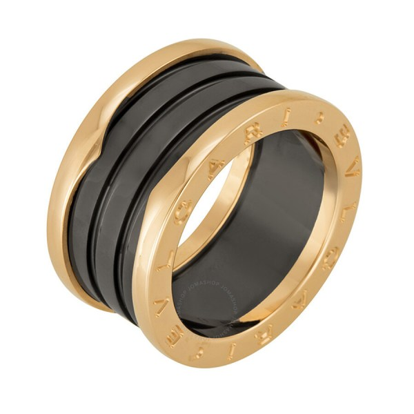 Bvlgari .zero1 Four Band 18 Kt Rose Gold And Black