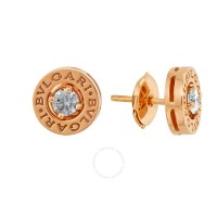 Bvlgari Bulgari Bulgari Pink Gold Diamond Earrings 347981