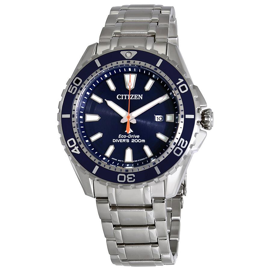 12c0f99e432 Citizen Promaster Diver Blue Dial Men S Stainless Steel Watch Bn0191 55l