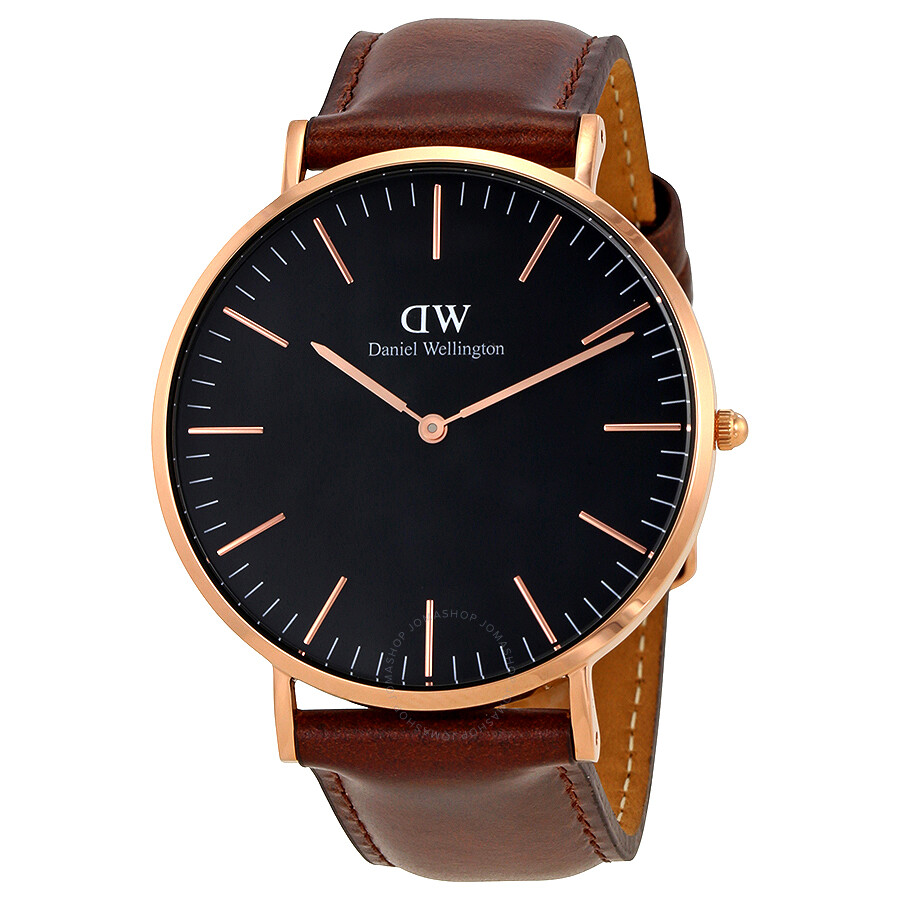 Daniel Wellington Classic Bristol Black Dial 40 MM Watch DW00100125 - Daniel Wellington - Watches - Jomashop