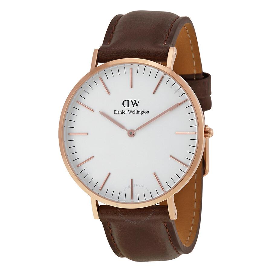 Daniel Wellington Classic Bristol White Dial Men's Watch 0109DW - Daniel Wellington - Watches - Jomashop