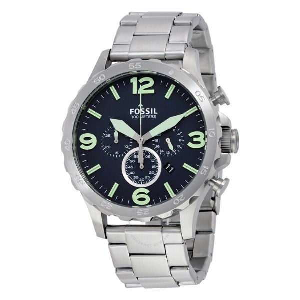 Fossil Men's Nate Chronograph Black Watch