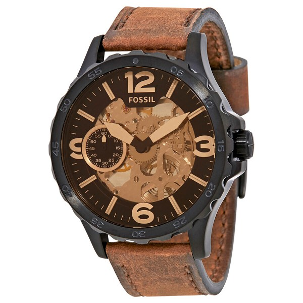 Fossil Nate Skeleron Dial Men' Watch Me3127 - Watches Jomashop