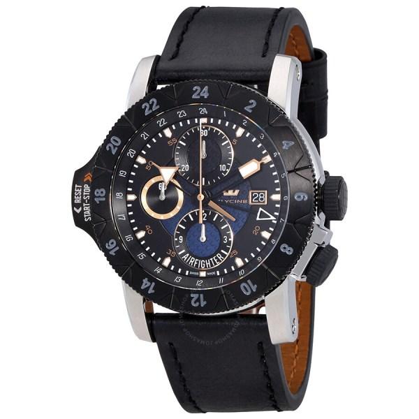 Glycine Airman Airfighter Automatic Men' Gmt Watch 3921