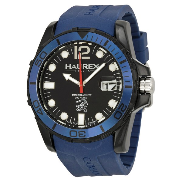 Haurex Italy Caimano Blue Rubber Men' Watch N1354unb