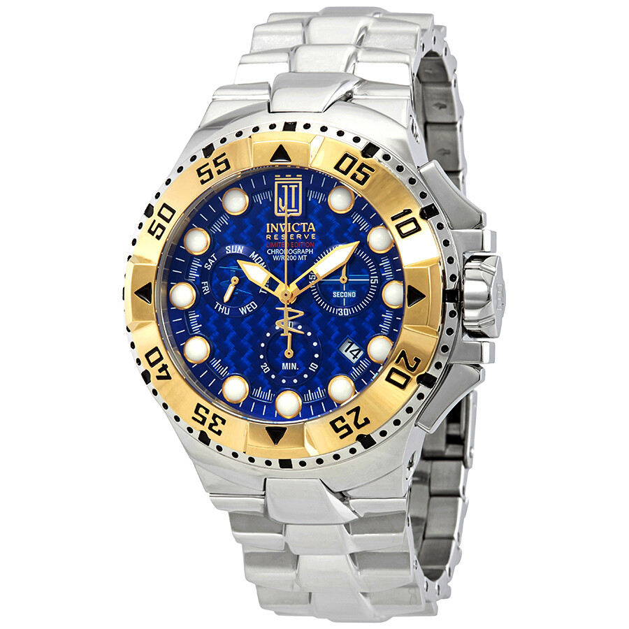 hight resolution of invicta jason taylor chronograph blue dial men s watch 17844