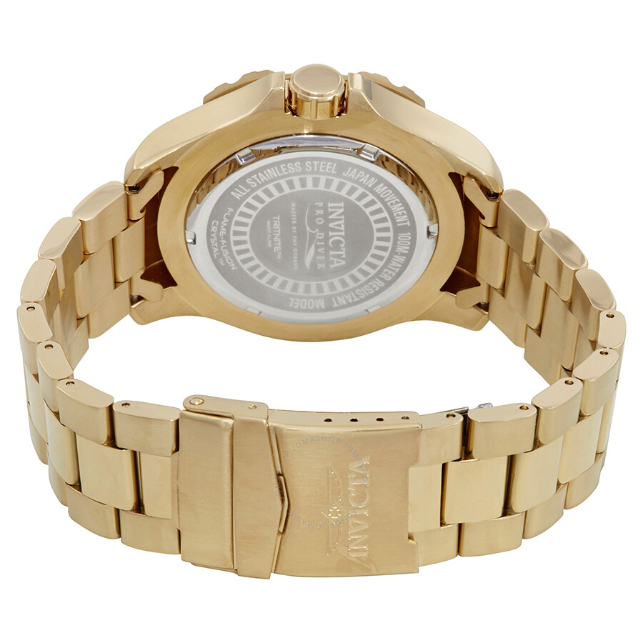 hight resolution of  invicta pro diver blue dial yellow gold plated men s watch 25793