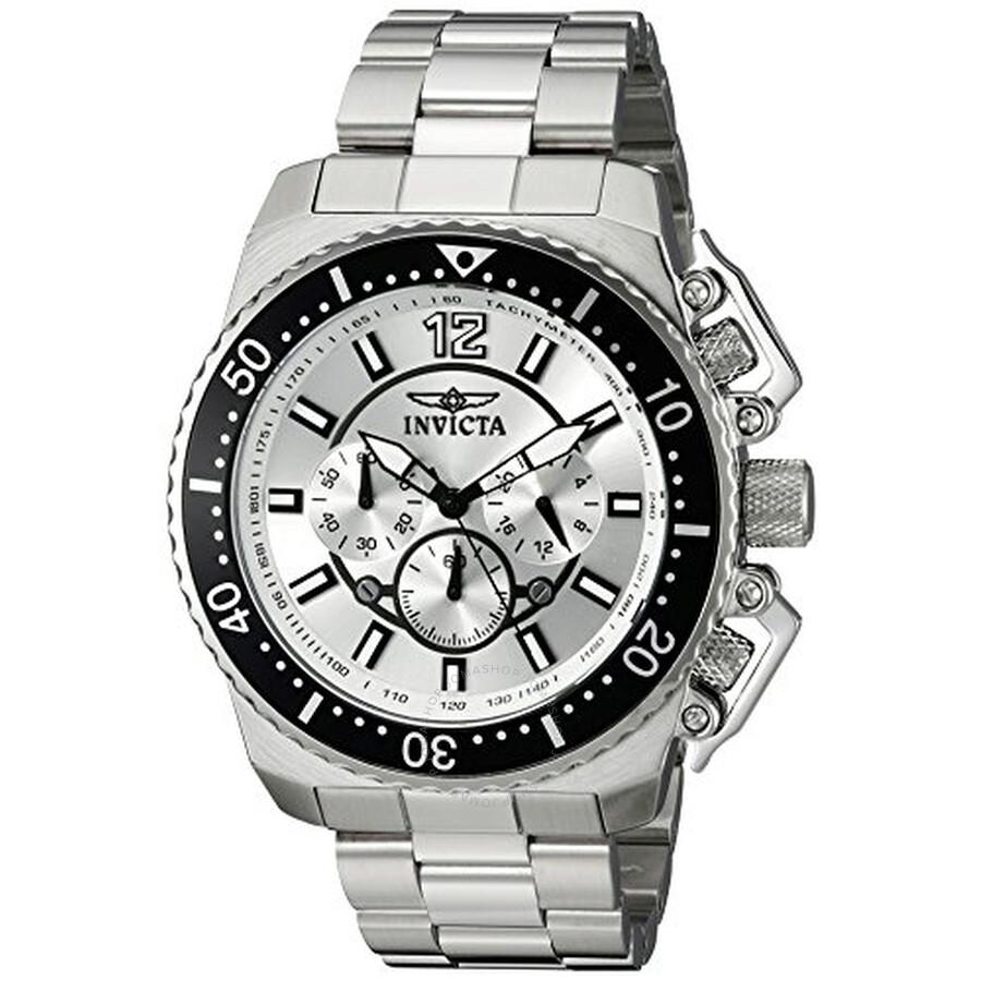 Invicta Pro Diver Chronograph Silver Dial Men's Watch