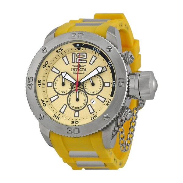 Invicta Yellow Face Watches Men