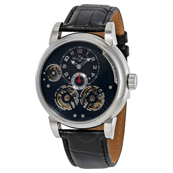 Lucien Piccard Cosmos Automatic Black Dial Men' Watch 15071-01- - Watches