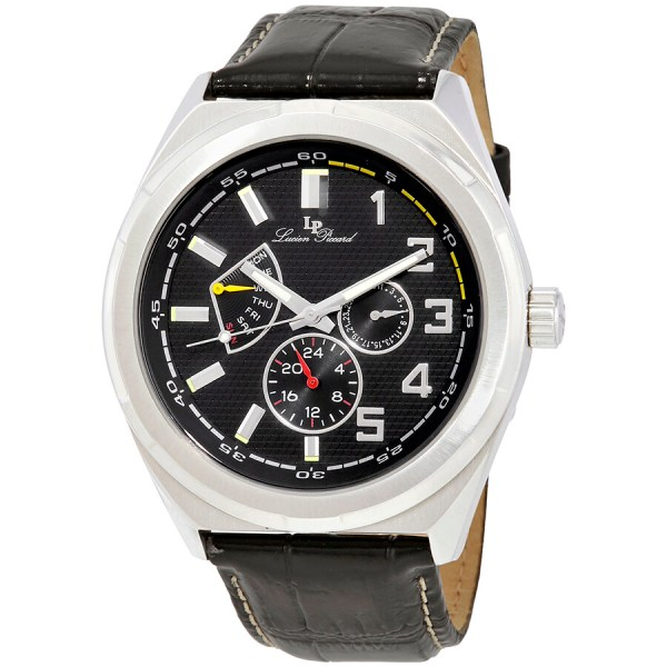 Lucien Piccard Heritage Black Dial Men' Multifunction Watch 28104bk - Watches