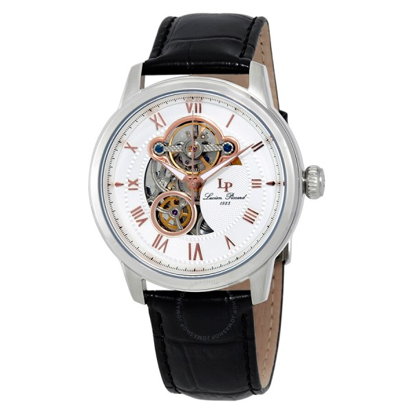 Lucien Piccard Optima Automatic Men' Open Heart Watch Lp-12524-02-ra - Watches