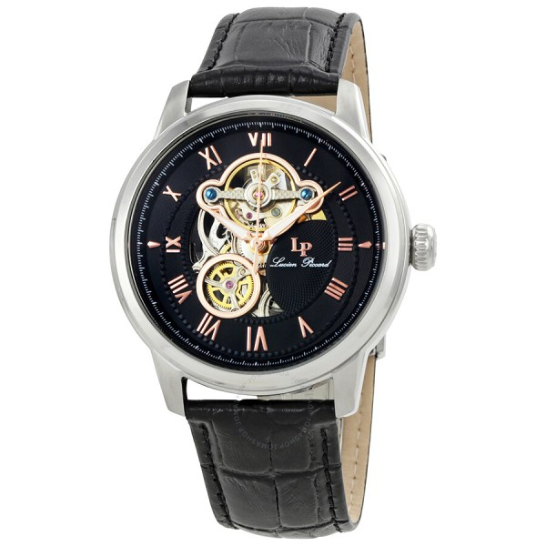 Lucien Piccard Optima Automatic Men' Open Heart Watch Lp-12524-01-ra - Watches