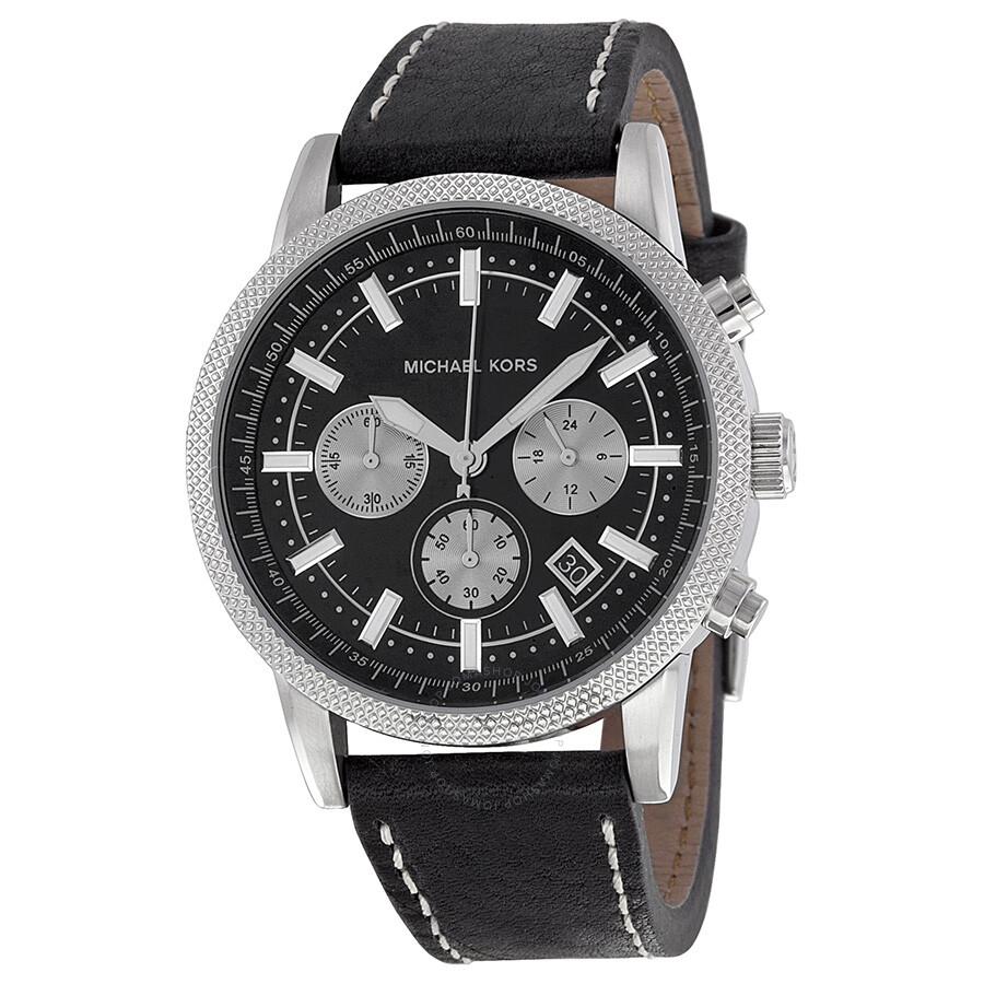 Michael Kors Chronograph Black Dial Black Leather Men's Watch MK8310 MK8310 - Michael Kors. Scout - Jomashop