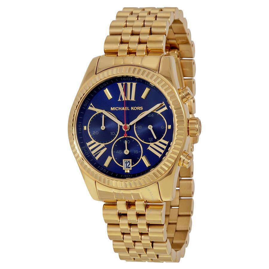 Michael Kors Lexington Chronograph Blue Dial Ladies Watch MK6206 MK6206 - Michael Kors. Lexington - Jomashop