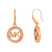 Michael Kors Logo Rose Gold-Tone Earrings MKJ4796791 ...