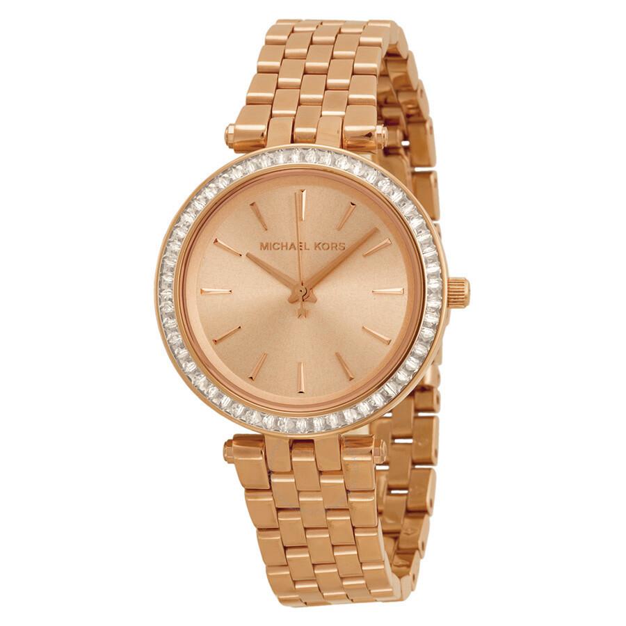 Michael Kors Mini Darci Rose Dial Ladies Watch MK3366 MK3366 - Watches. Michael Kors - Jomashop