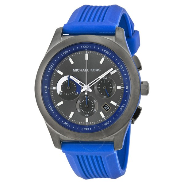 Michael Kors Outrigger Chronograph Grey And Blue Dial