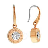 Michael Kors Pave Crystal Rose Gold-Tone Earrings ...
