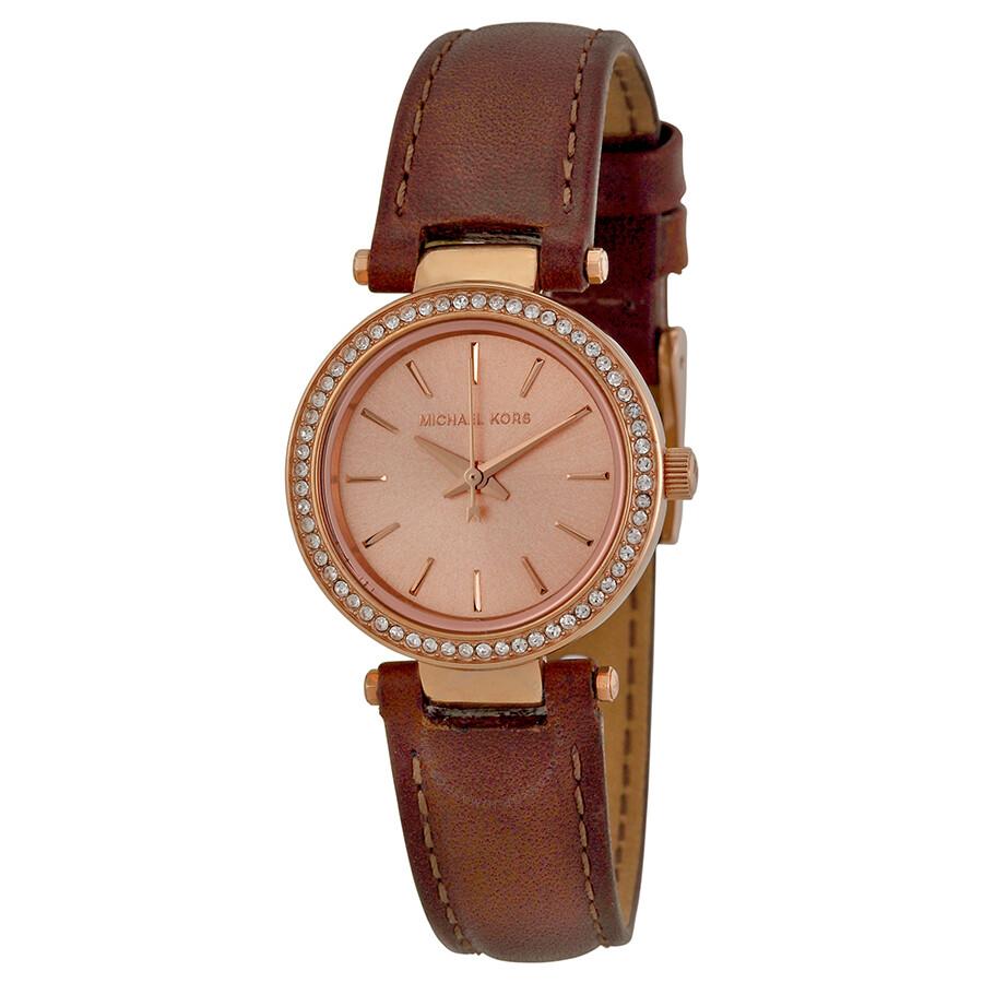 Michael Kors Petite Darci Rose Dial Brown Leather Ladies Watch MK2353 MK2353 - Michael Kors. Darci - Jomashop
