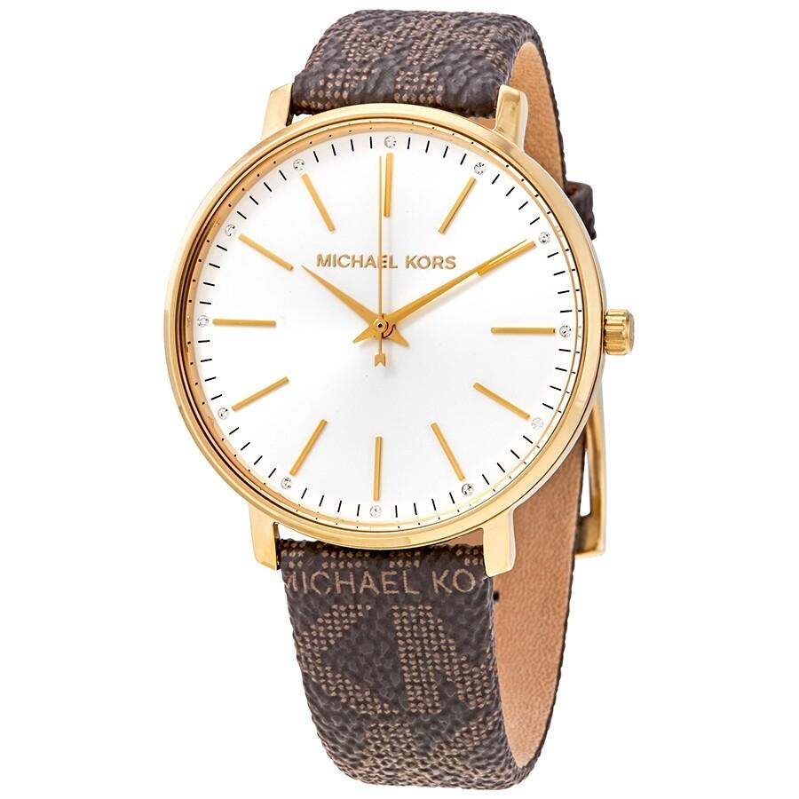 Michael Kors Pyper Quartz Crystal White Dial Ladies Watch MK2857 MK2857 - Watches. Michael Kors - Jomashop