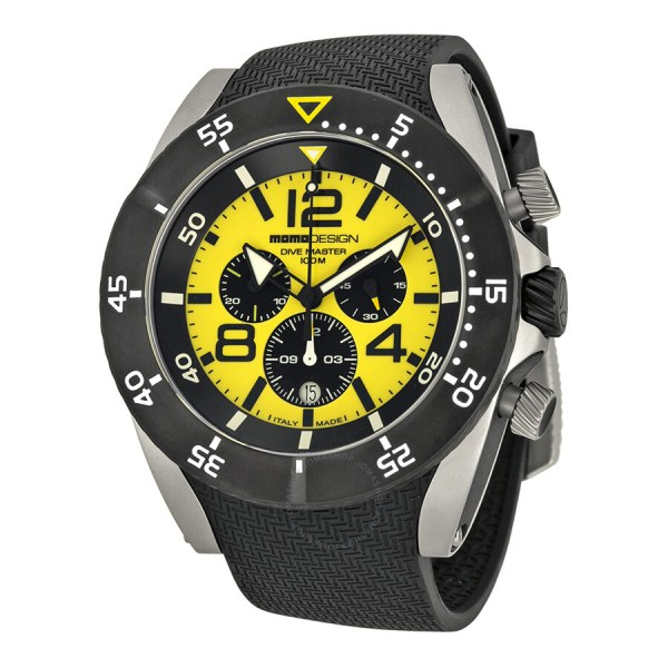 Momo Design Dive Master Chronograph Yellow Dial Stainless