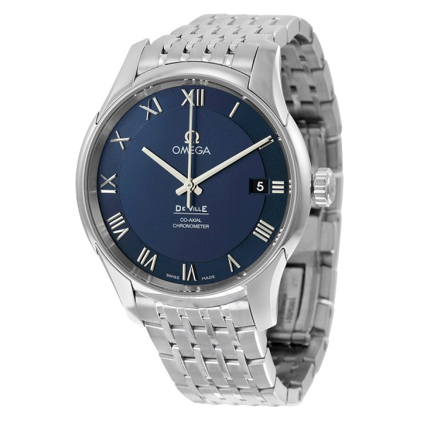 Omega De Ville -axial Chronometer Blue Dial Stainless