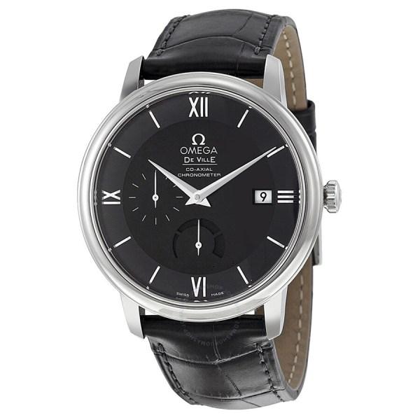 Omega Deville Prestige Black Dial Automatic Men' Watch