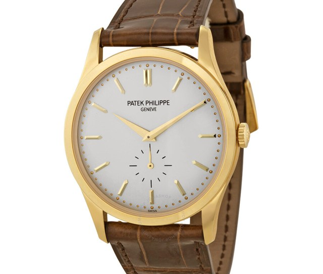 Patek Philippe Calatrava Mechanical Opaline White Dial Mens Watch 5196j 001