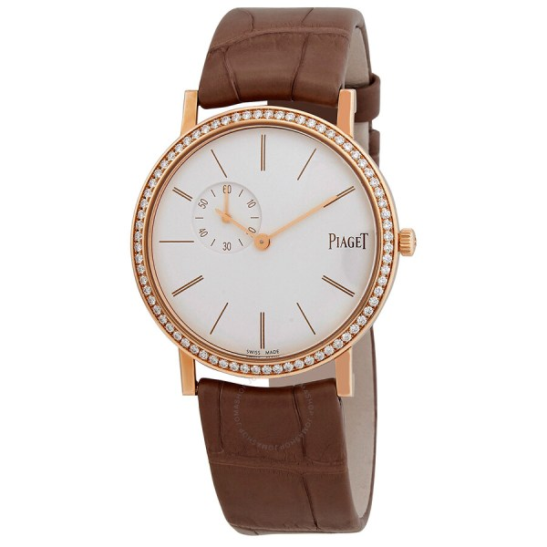 Piaget Altiplano White Dial 18k Rose Gold Diamond Ladies