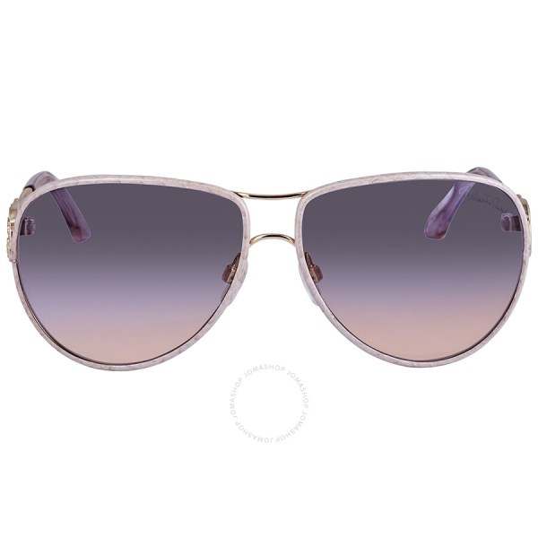 Roberto Cavalli Blue Mirror Aviator Ladies Sunglasses