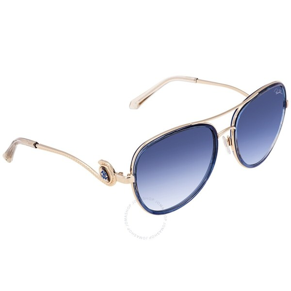 Roberto Cavalli Blue Mirror Aviator Sunglasses Rc1013