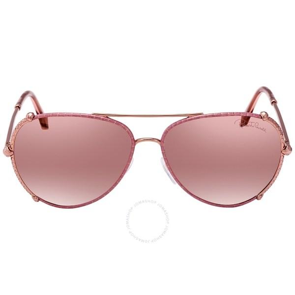 Roberto Cavalli Bordeaux Mirror Aviator Sunglasses Rc1029