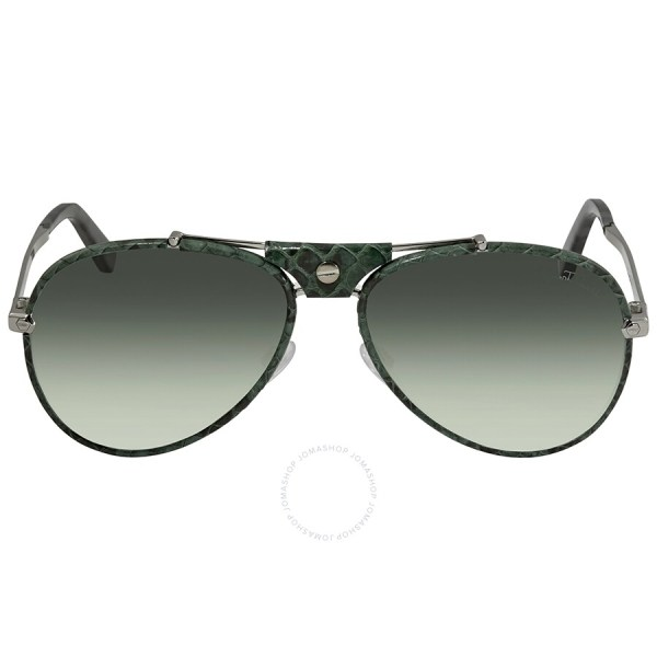 Roberto Cavalli Gradient Green Aviator Sunglasses Rc1042