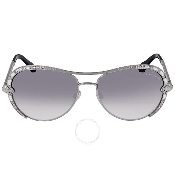 Roberto Cavalli Gradient Smoke Aviator Sunglasses Rc975s