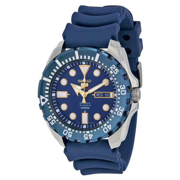 Seiko Diver Automatic Blue Dial Rubber Men' Watch