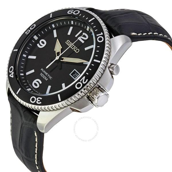 Seiko Kinetic Black Watches for Men