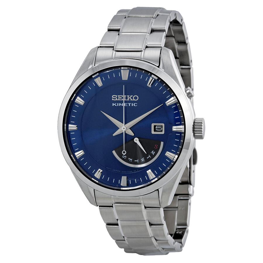 Seiko SRN047 Kinetic 42MM Men's Stainless Steel Watch | eBay