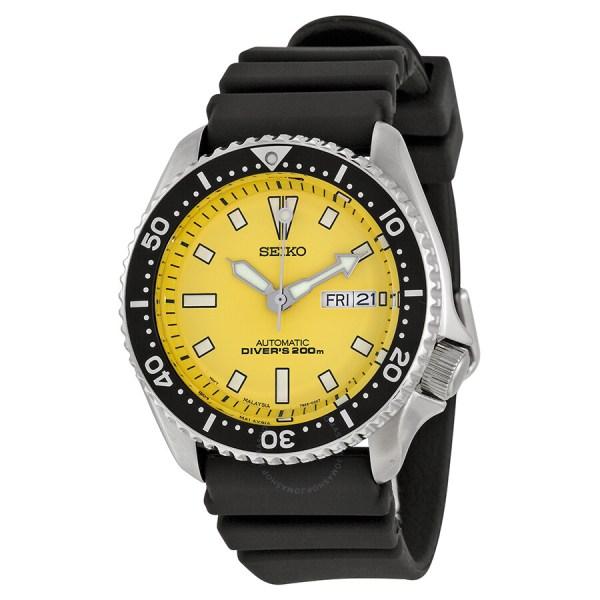 Seiko Yellow Dial Divers Men' Watch Skxa35 - Diver
