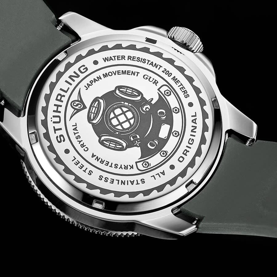 Stuhrling Original Aquadiver Quartz Green Dial Men's Watch M13625 - Stuhrling Original - Watches - Jomashop