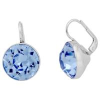 Swarovski Bella Pierced Earrings - Light Sapphire Crystal ...